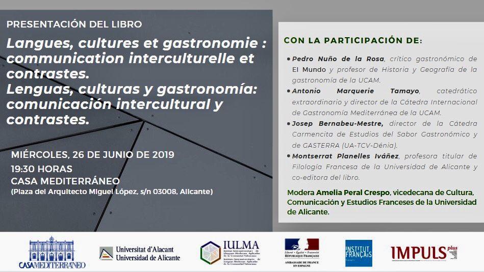"""Presentación del libro – """"Lenguas, culturas y gastronomía: comunicación intercultural y contrastes"""""""