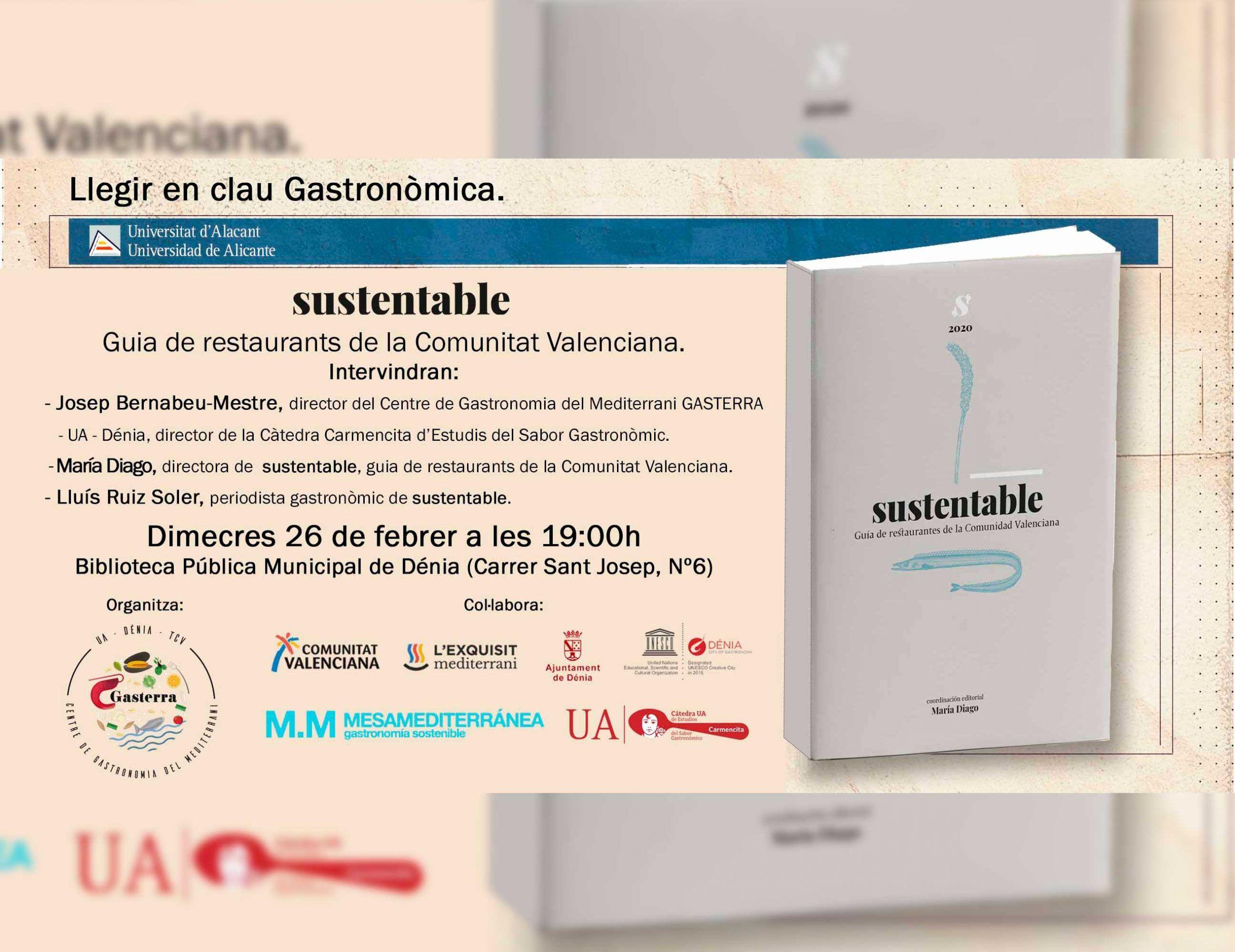 """Presentació """"SUSTENTABLE"""" Guia de restaurants de la Comunitat Valenciana"""