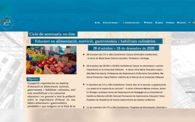 Seminaris sobre Educació en alimentació, nutrició, gastronomia i habilitats culinàries.