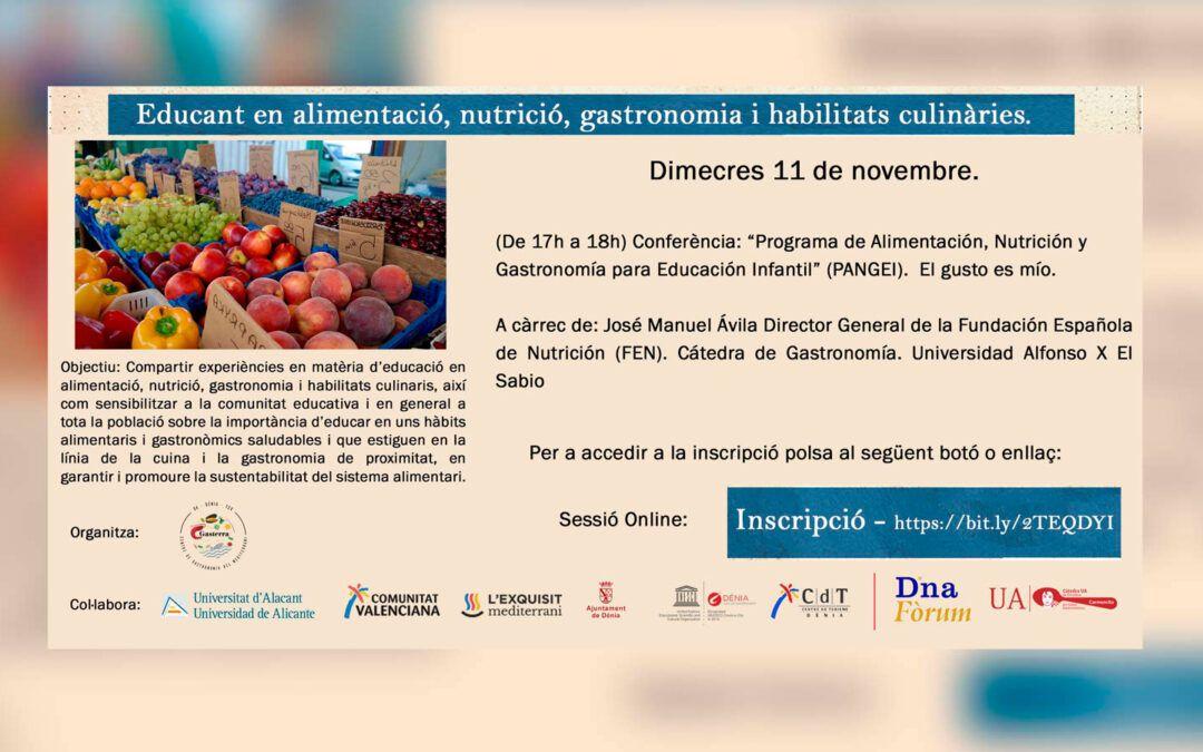 """Conferència: """"Programa d'Alimentació, Nutrició i Gastronomia per a Educació Infantil (PANGEI)"""""""