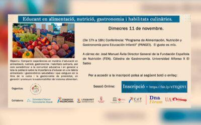 Conferencia: «Programa de Alimentación, Nutrición y Gastronomía para Educación Infantil (PANGEI)»