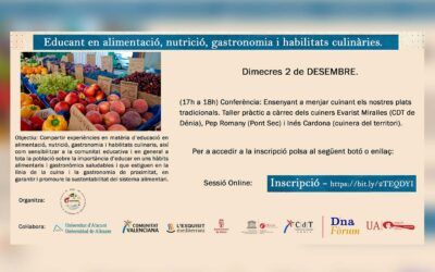 Ciclo de Conferencias Educar en alimentación, nutrición y habilidades culinarias