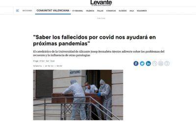 """""""Saber els morts per covid ens ajudarà en pròximes pandèmies"""""""